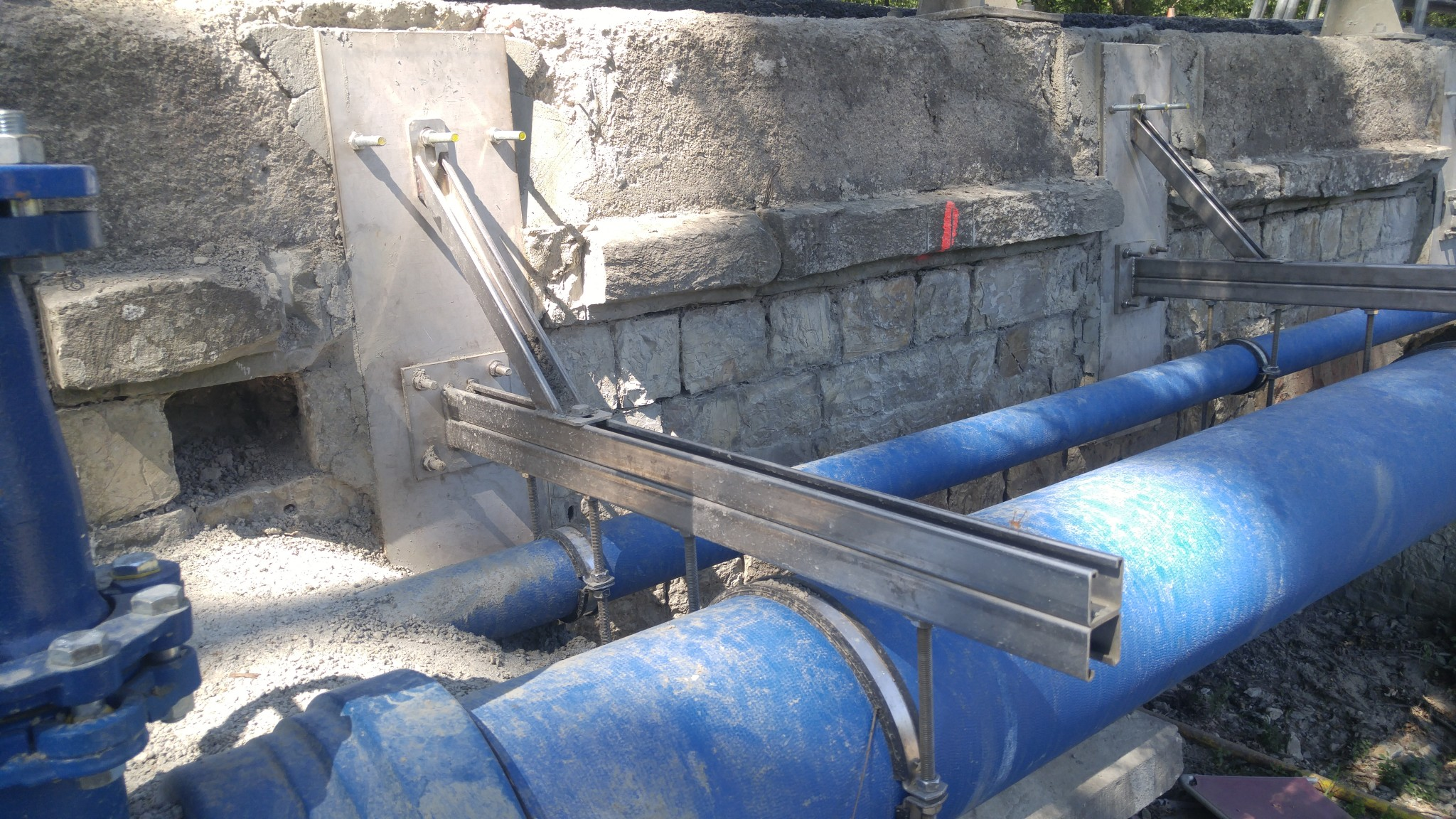 Work done at the Impruneta's bridge