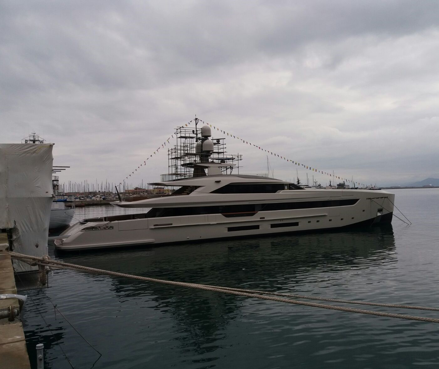 Work done on a 50 m Yacht