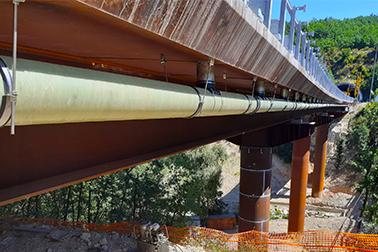 Viadotto Bussi-Popoli – Collare in due pezzi con chiusura rapida