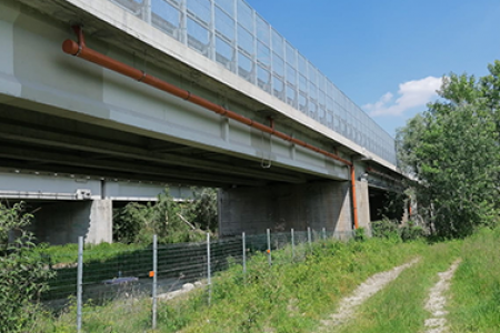 Ponte sulla Dora Baltea – Collari con gomma AISI 304
